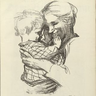 Just to balance Kathe Kollwitz also caught probably the true essence and joy of motherhood. In a delicate and touching manner. So here is another of hers. Beautiful. #kathekollwitz #powerfulart