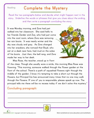 Printables Reading Comprehension Vocabulary Worksheets get in shape reading practice and comprehension on pinterest fourth grade composition vocabulary worksheets complete the mystery