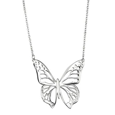 silver necklace: Silver Necklaces, Fiorelli Silver, Sterling Silver, Necklace N2967, Silver Rhodium, Butterfly For
