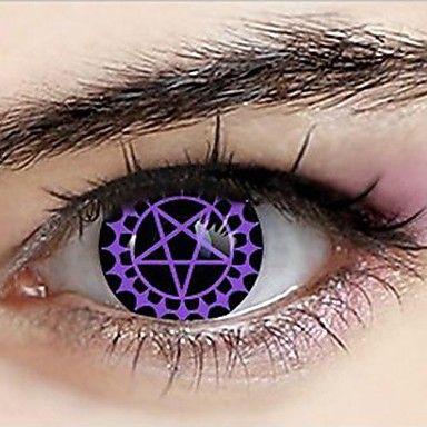 lentes de contacto cosplay pacto ceil mayordomo negro phantomhive demoníacos (1 par) - EUR € 10.77