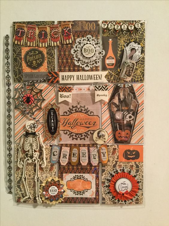 """Halloween """"Scary"""" theme pocket letter created by Brittany Mitchell. So cute and…"""