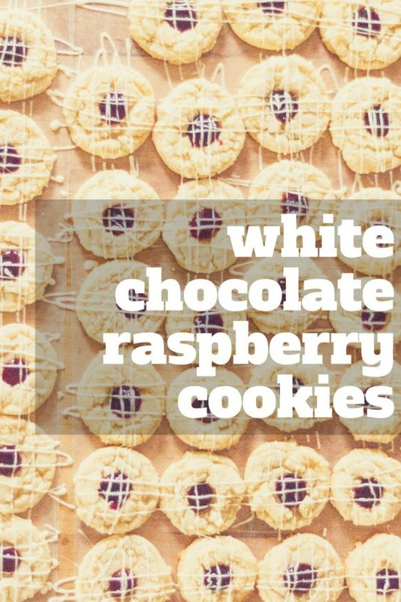 White chocolate raspberry, Raspberry cookies and White chocolate on ...