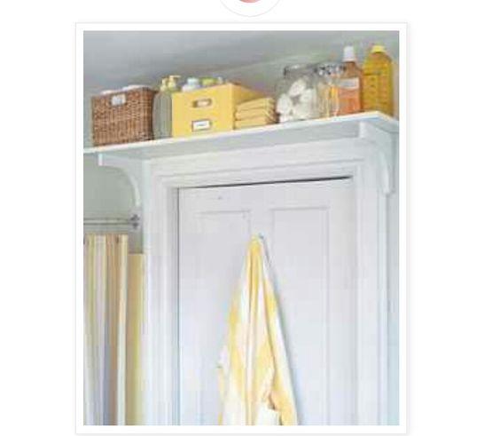 Shelves above doors