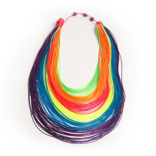 This 100 percent handcrafted necklace contains all the colors of the rainbow. Plus, its clasp is made from açaí seeds, meaning when you put it on, you'll actually be wearing a superfood—which pretty much guarantees an amazing day.
