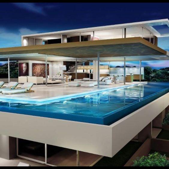 Modern homes casas modernas pinterest piscinas de for Modern house 52