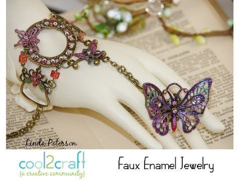 Love, love, LOVE this faux enamel technique from Linda Peterson! http://cool2craft.com