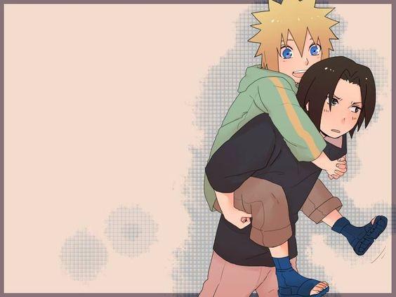 Minato and Fugaku as kids9 narutoand saaukes dads