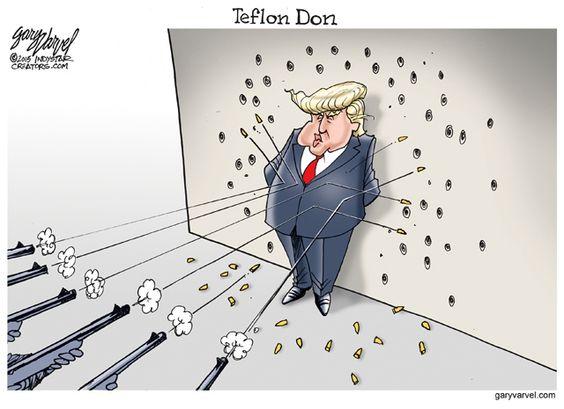Image result for Cartoon Teflon Trump