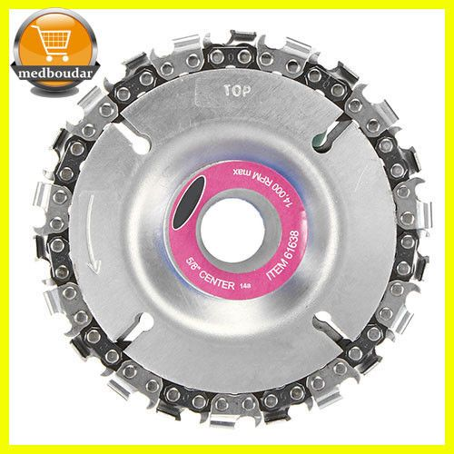 """22 Tooth 4/"""" UK Cut Grinder Disc and Chain Wood Carving For 100//115 Angle Grinder"""