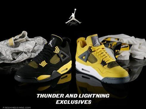 air jordan retro 4 thunder and lightning