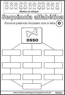 Sequência alfabética letra O