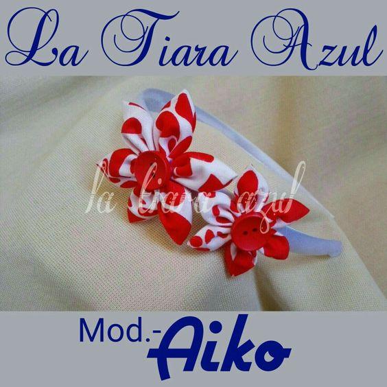 www.latiarazul.com Diadema en tela estampada
