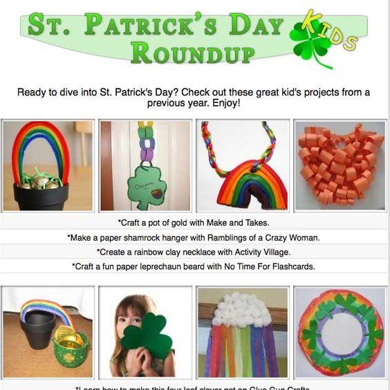 Kid's St. Patrick's Day craft tutorials and activities!
