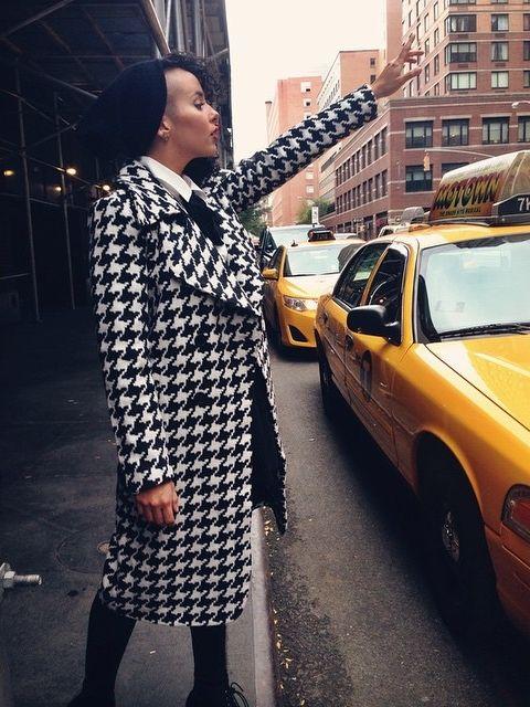 Raquel in the Nasty Gal Reality Check Coat #houndstooth || Get the coat: http://www.nastygal.com/product/nasty-gal-reality-check-coat?utm_source=pinterest&utm_medium=smm&utm_term=influencer_nasty_gal&utm_content=nasty_gals_in_the_wild&utm_campaign=pinterest_nastygal