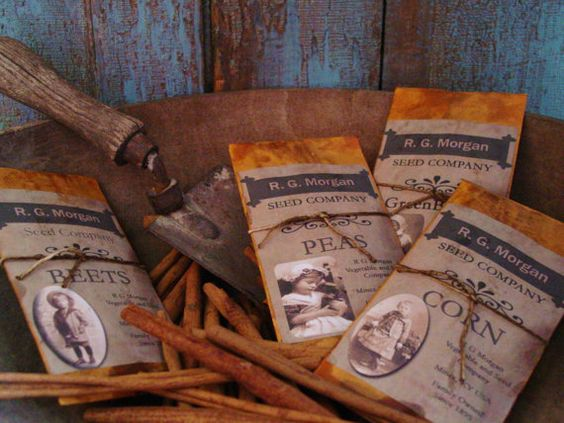 Primitive Grubby Beets Scented Seed Packet by prairieantiques, $4.95