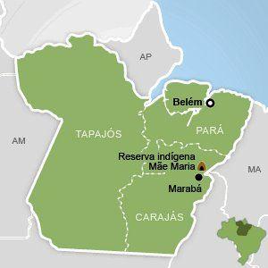 Reserva dos índios Akarãtika-Tejê, na área que será mais afetada p construção de Usina em Marabá-PA(Facebook-Save the Amazõnia)