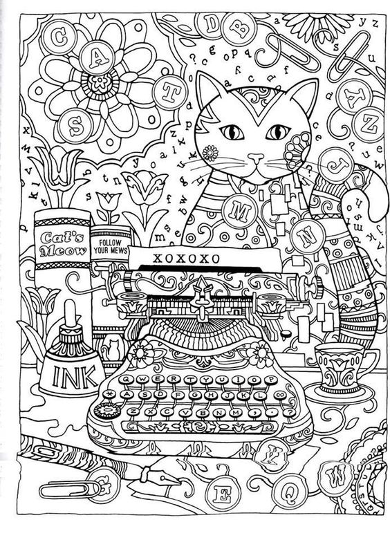 Advanced Abstract Coloring Pages : Abstract doodle coloring pages colouring adult detailed