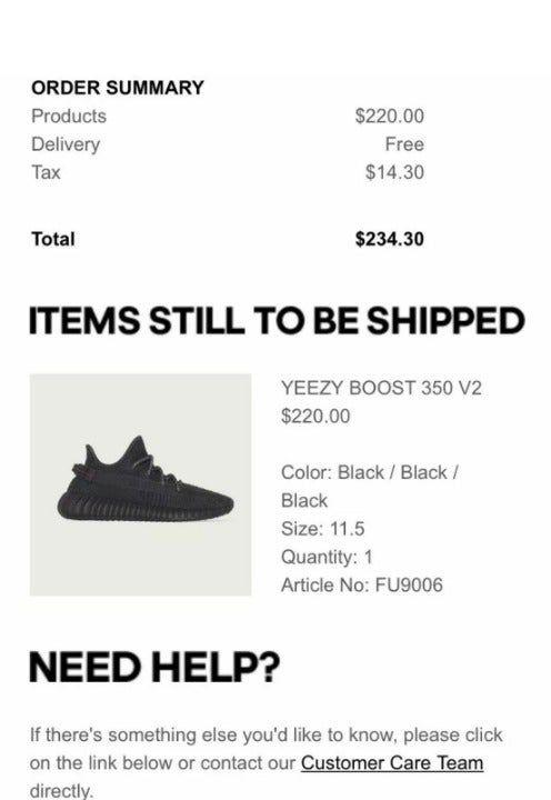 adidas Yeezy Boost 350 V2 Black (Non