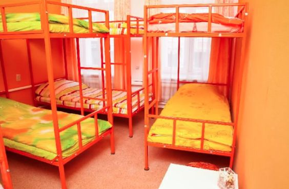 The Gorkiy Hostel is a very welcoming establishment with its brightly colored rooms and clean facilities.