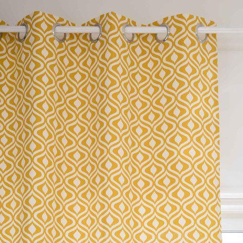 rideau illets en coton jaune ocre 110 x 270 cm manicata tissu coussin rideau pinterest. Black Bedroom Furniture Sets. Home Design Ideas