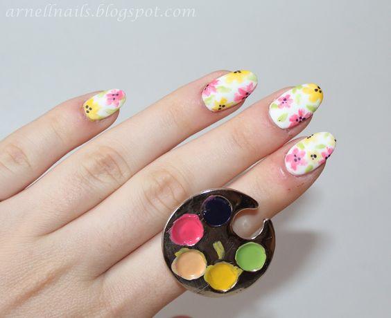 Art Beauty Lifestyle: Akwarelowe kwiaty