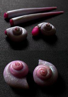 Hollow shells (made with playdough)  ~ Polymer Clay Tutorials