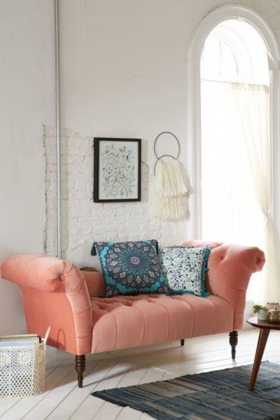 Antoinette Fainting Sofa - Coral