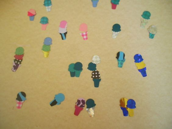 50 Ice Cream Paper Punches by ang744 on Etsy, $2.00