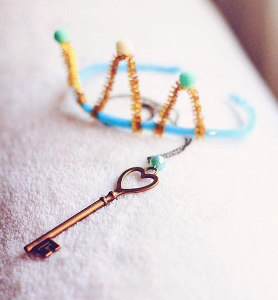 Heart Key Necklace by Katratzi on Etsy