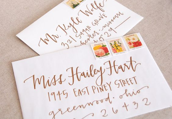 Send your guests invitations they will never forget! These hand-lettered envelopes are the perfect mix of fun and elegant for your invitations