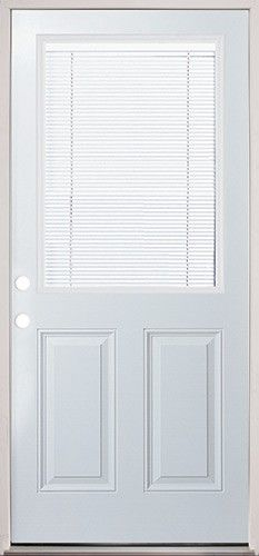 Steel back door with internal mini blinds super easy to for Beautiful back doors