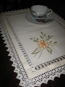 Filomena Crochet e Outros Lavores: - Pano de Tabuleiro ou Toalha de Bandeja