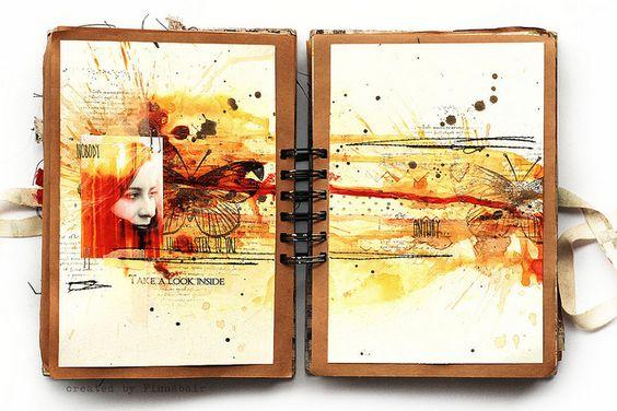 Journal 22 - look inside by finnabair, via Flickr