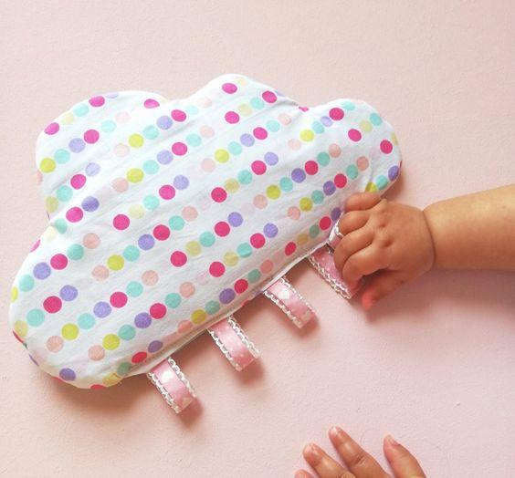 Knisterwolke mit Schlaufen Nähen für Babys inkl