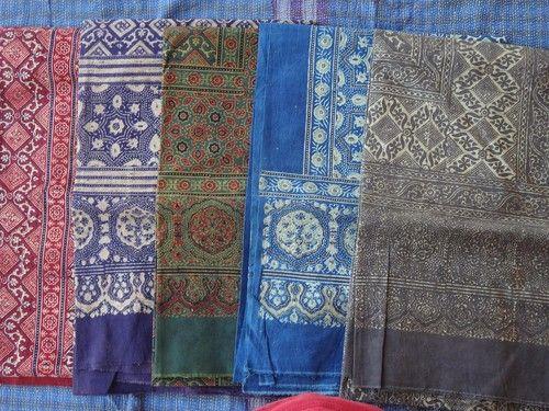 wholesale lot of Indian Block printed ajrakh cotton ...