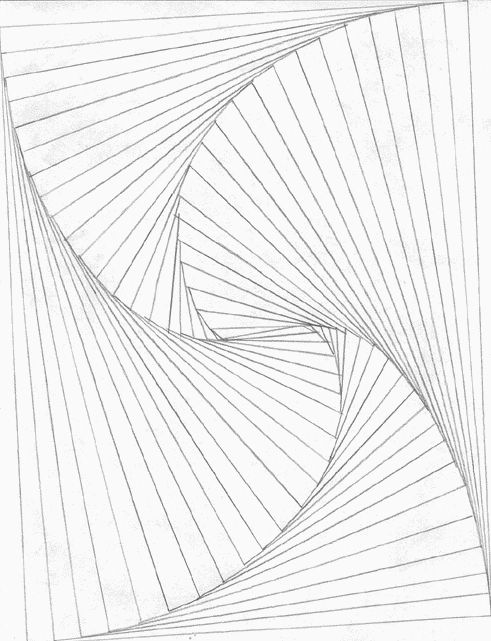 Line Drawing Illusion : Line art illusions and d on pinterest