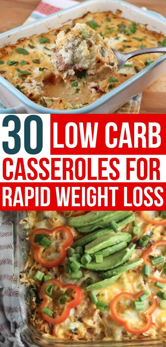 30 Low Carb Casseroles For Weight Loss
