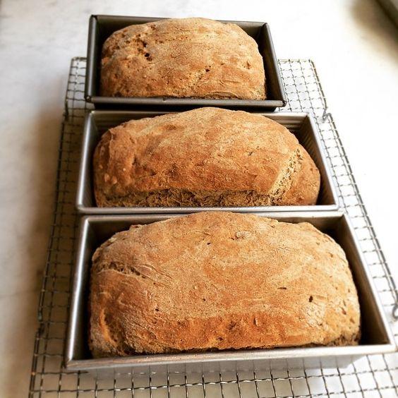 Three whole grain gluten free sandwich breads ready for tonight's dinner. #jovialgetaway