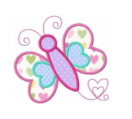 Machine embroidery designs butterflies and appliques on