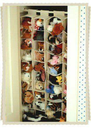 Peluches storage