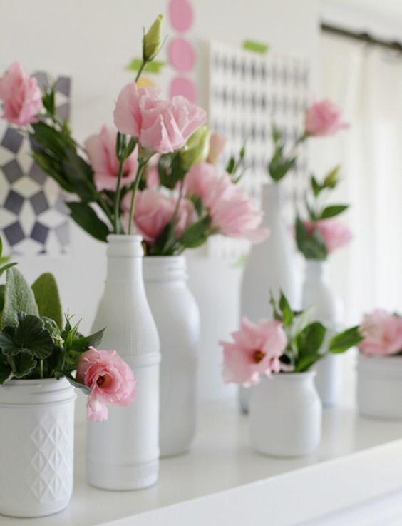 DIY - des bouteilles customisées - Le salon de thé - le blog d'un Lys dans l'atelier