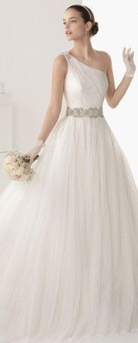 Espanha Rosa Clará 2014 marca casamento novo vestido de noiva, estilo de design de casamento ainda é elegante e discreto, criando um belo es...