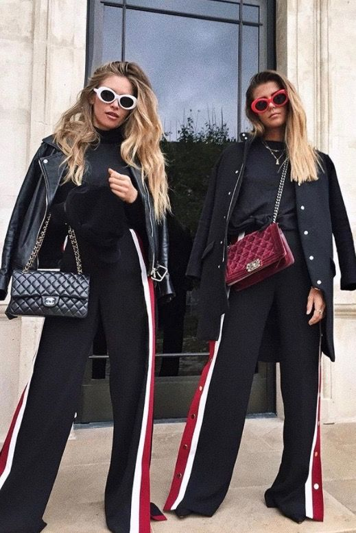 Outfits mit Trackpants. Wir zeigen dir wie du den Sport-Look zum Alltags-Look machst! #joggpants #athleisure #trends #outfits #streetstyle #fashion #fashiontrends #fashion #athleisure