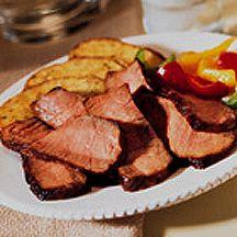 Red Wine Herb-Marinated Beef Steaks.