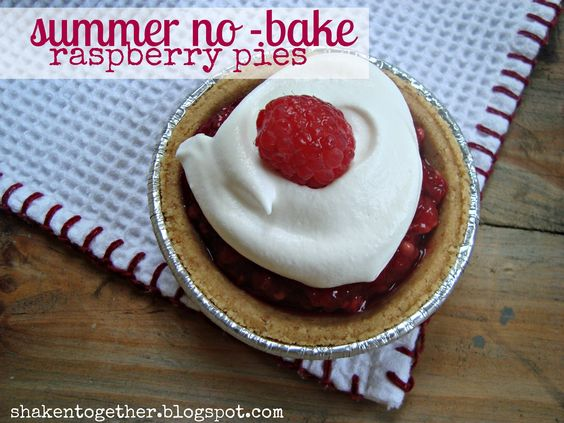 shaken together: {taste this} summer no-bake raspberry pies