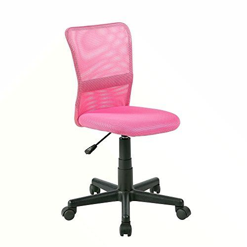 Eurostile Desk Chair Mid Back Adjustable Mesh Chair Ergonomic Swivel Computer Office Chair 8252s Pink Kids Desk Chair Pink Desk Chair Dining Chairs Diy