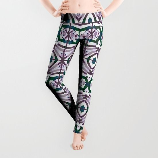 Geometric print leggings by dflcprints and #society6