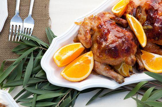 orange glazed cornish game hens | Food/Drinks | Pinterest | Hens ...