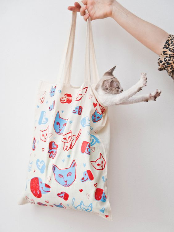 Puppy Kitty Love Tote by Leah Goren