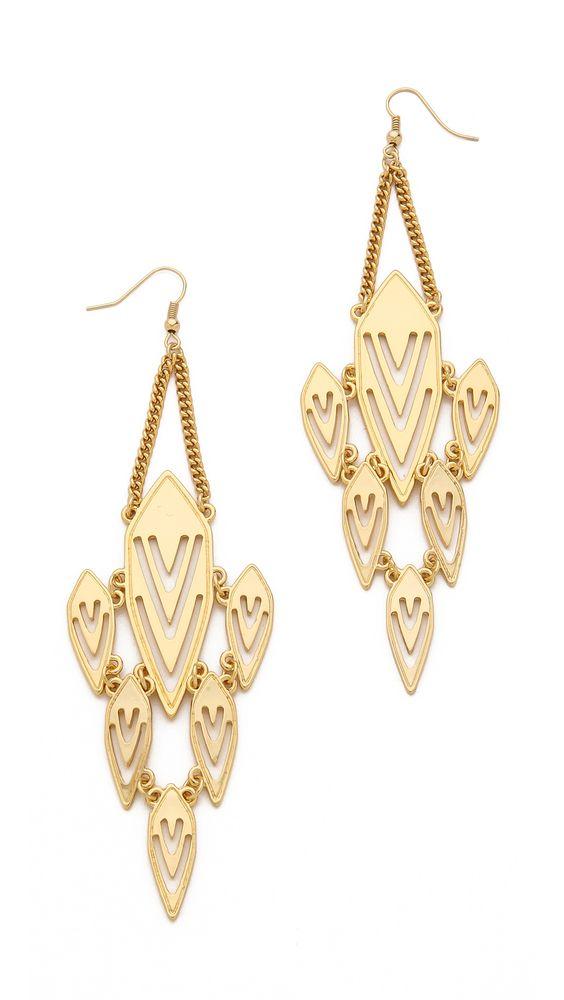 Jules Smith Geometric Chandelier Earrings
